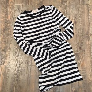 Worn once- Michael Kors bold stripe t shirt dress